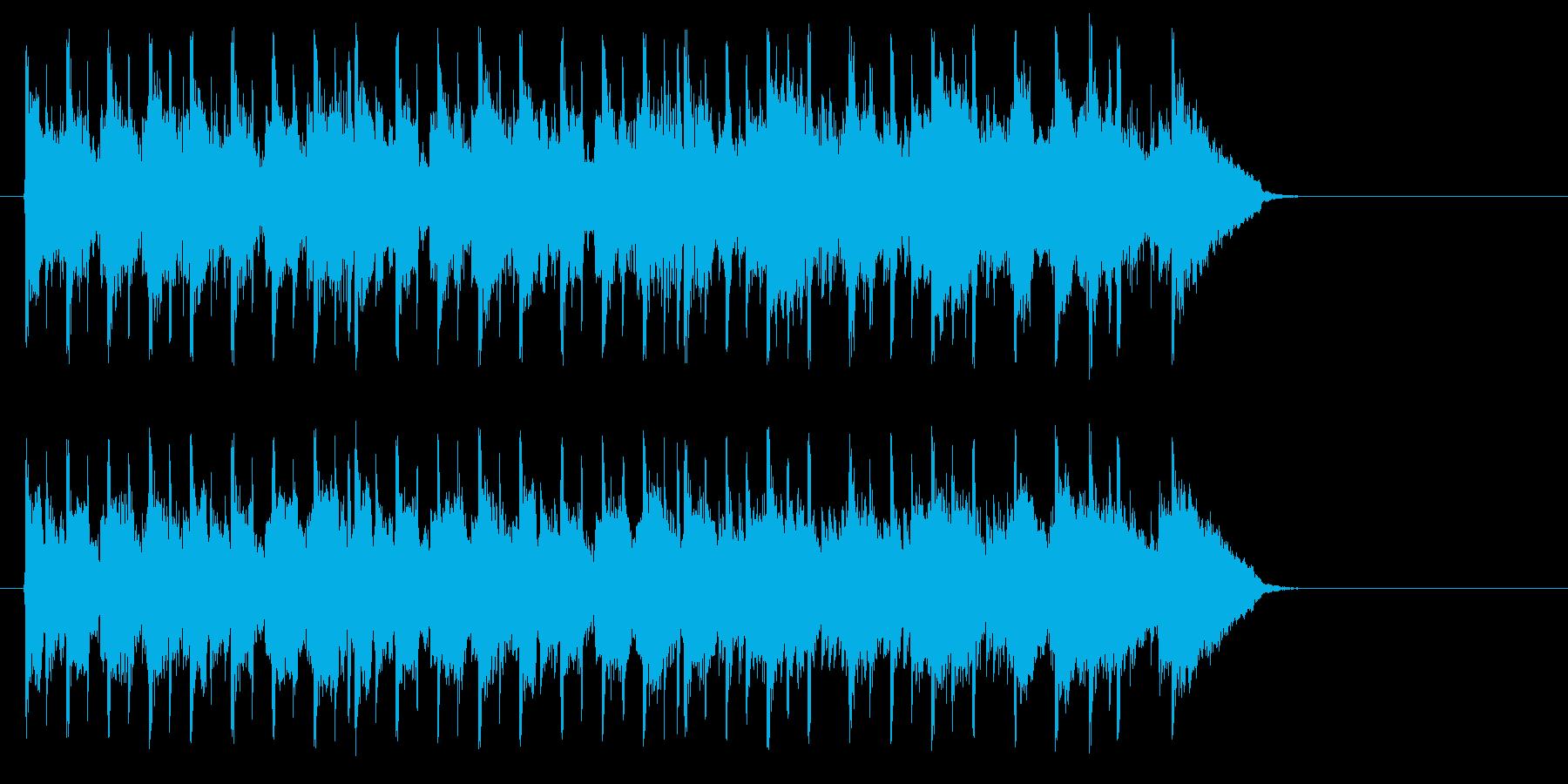 家族団欒風のんびりポップ(サビ~エンド)の再生済みの波形