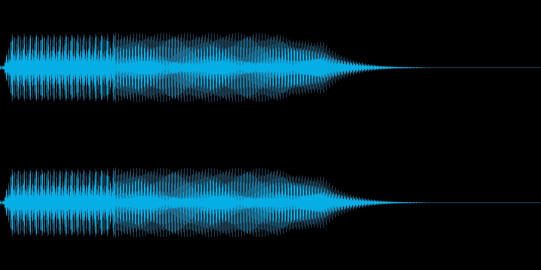 ボタン押下や決定音_ピロッ!の再生済みの波形