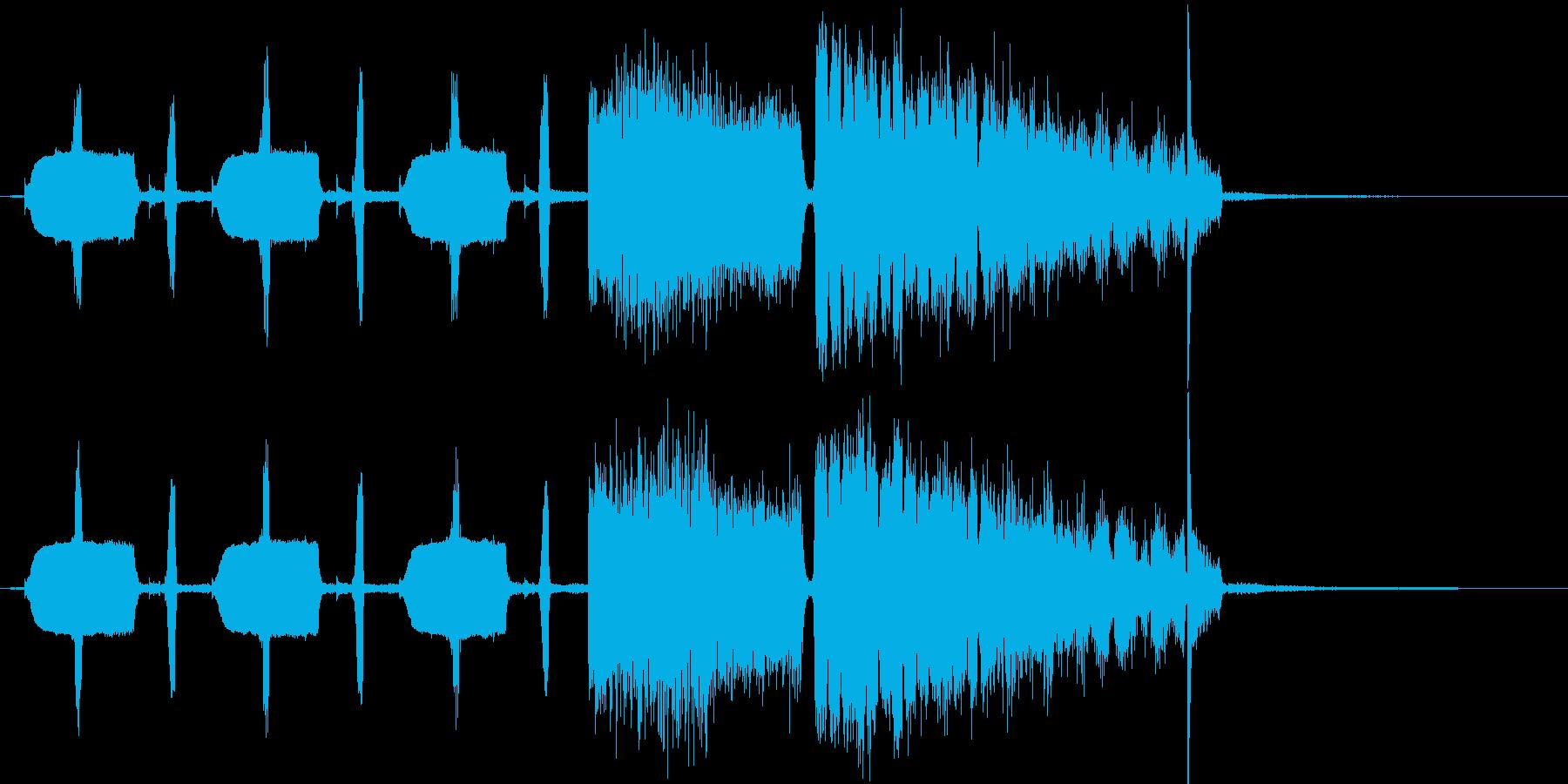 ユニークであり軽快なテクノの再生済みの波形
