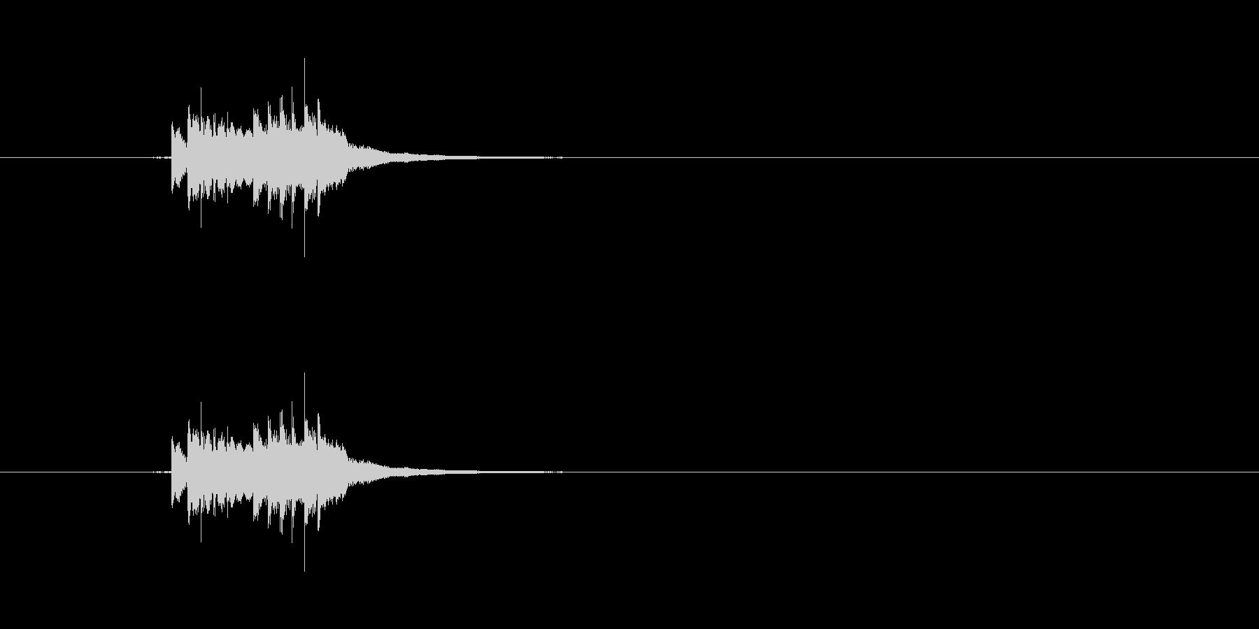 シンプルな自転車のベル音です。の未再生の波形
