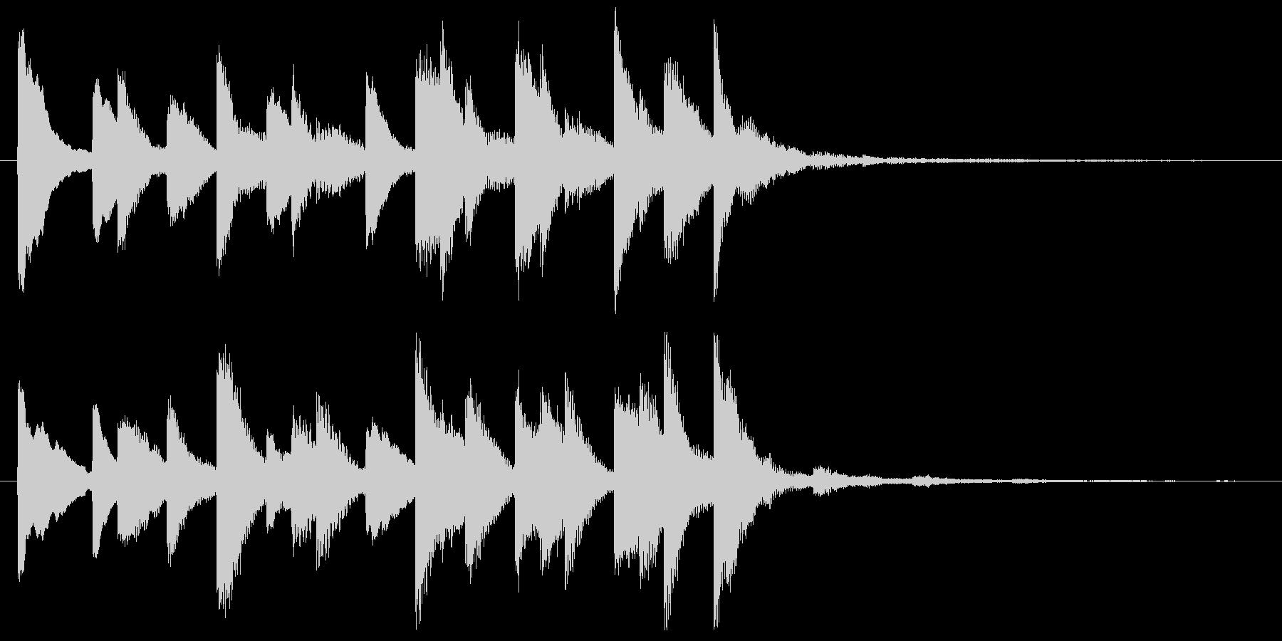かわいくポップなベル音のワンフレーズの未再生の波形