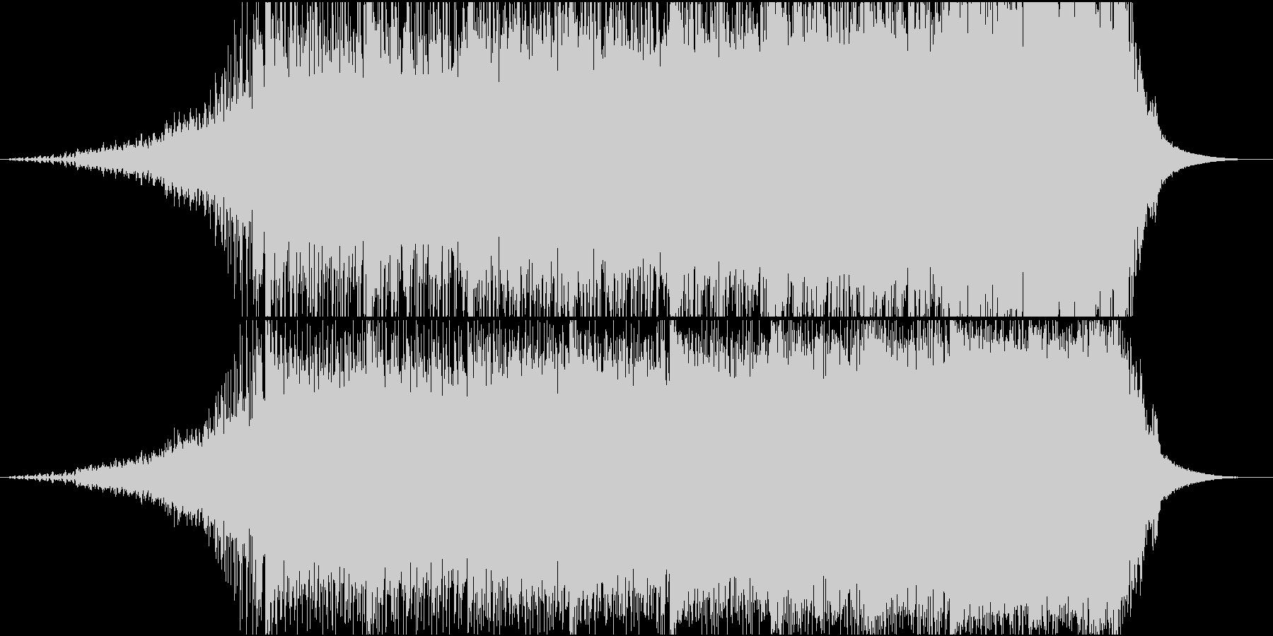 加速するビートの未再生の波形