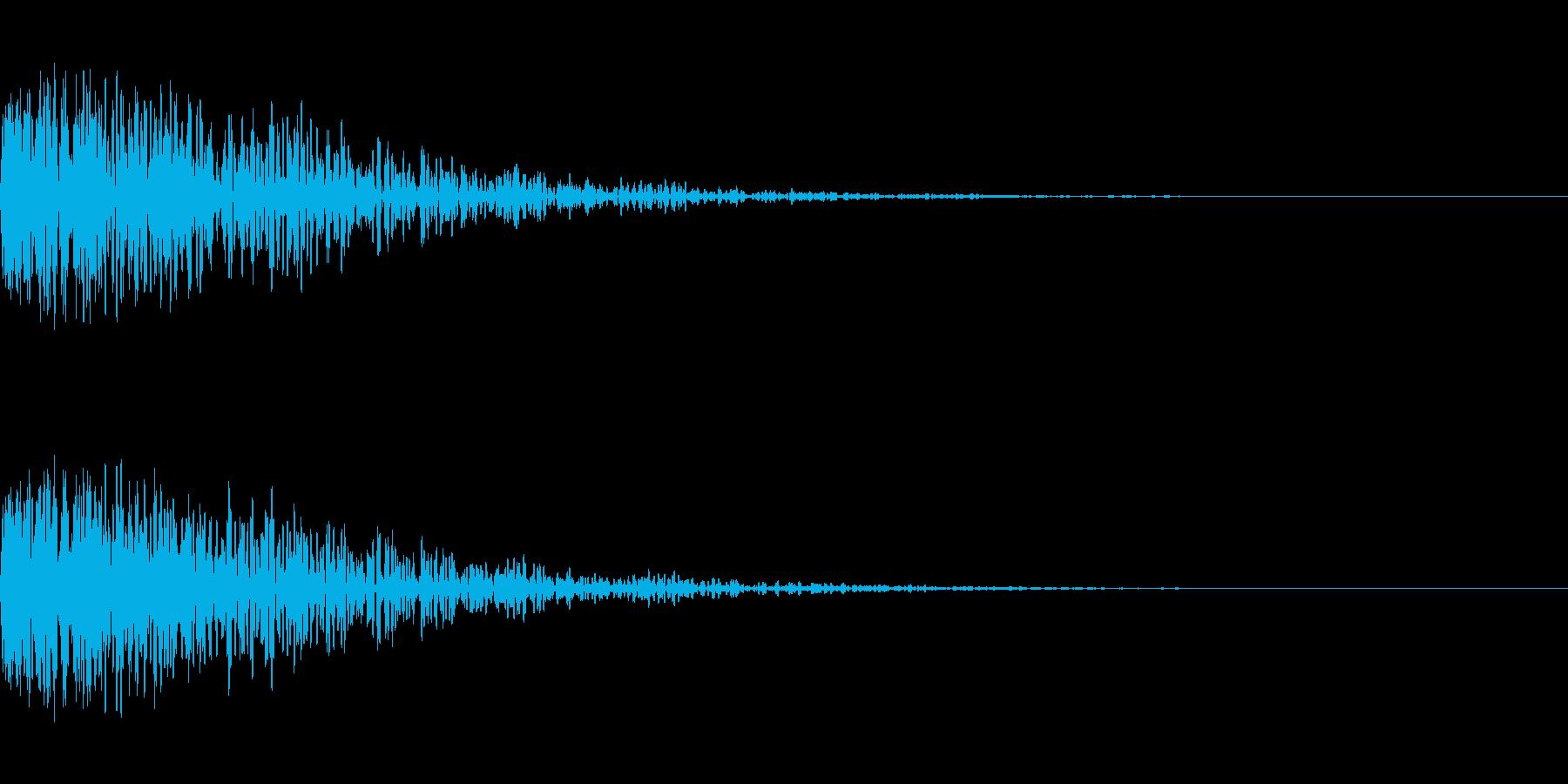 爆発音のようなドーン音の再生済みの波形