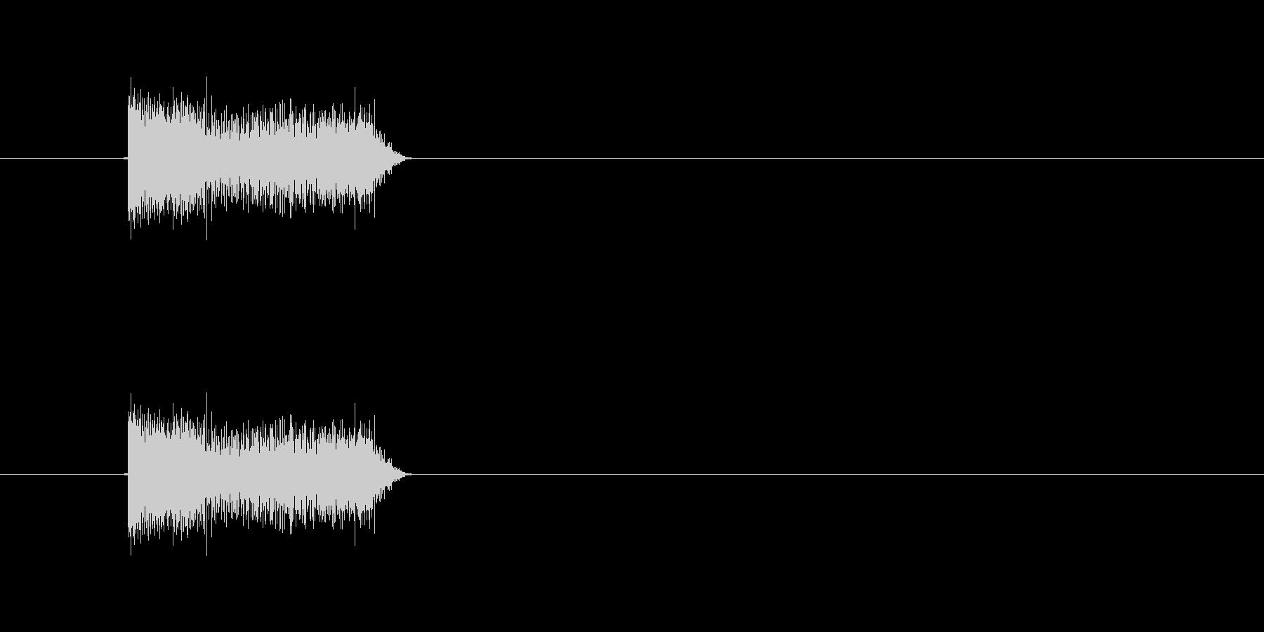 ボタン音。アラーム音、警告音などにの未再生の波形
