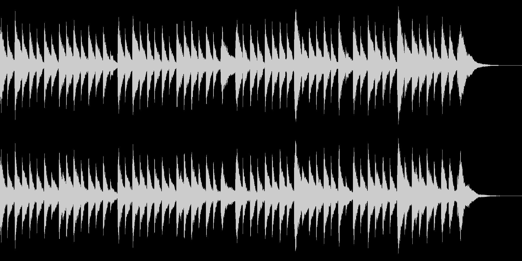 童謡オルゴール 春の小川 の未再生の波形