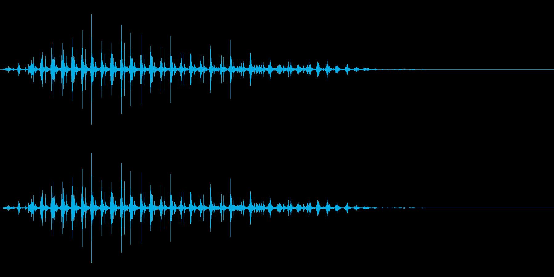 「パタパタパタ〜」鳥の羽ばたきの擬音の再生済みの波形