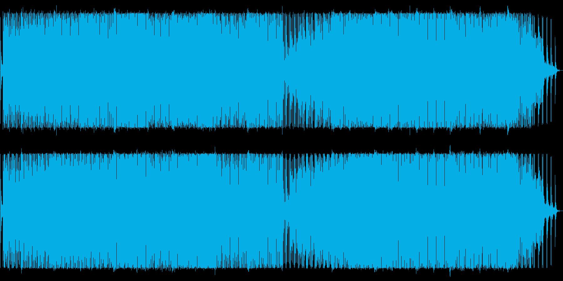 シンセとパーカッションのグルーブ・ハウスの再生済みの波形