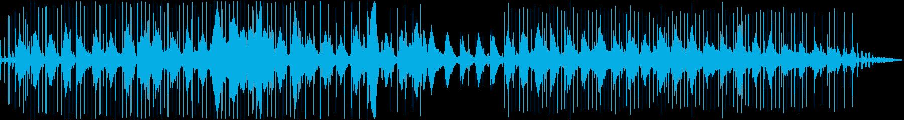 カモメが海の上を飛んでいるような電子音楽の再生済みの波形