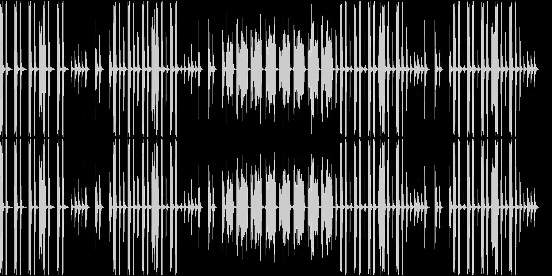 のんびりとした雰囲気のBGMの未再生の波形