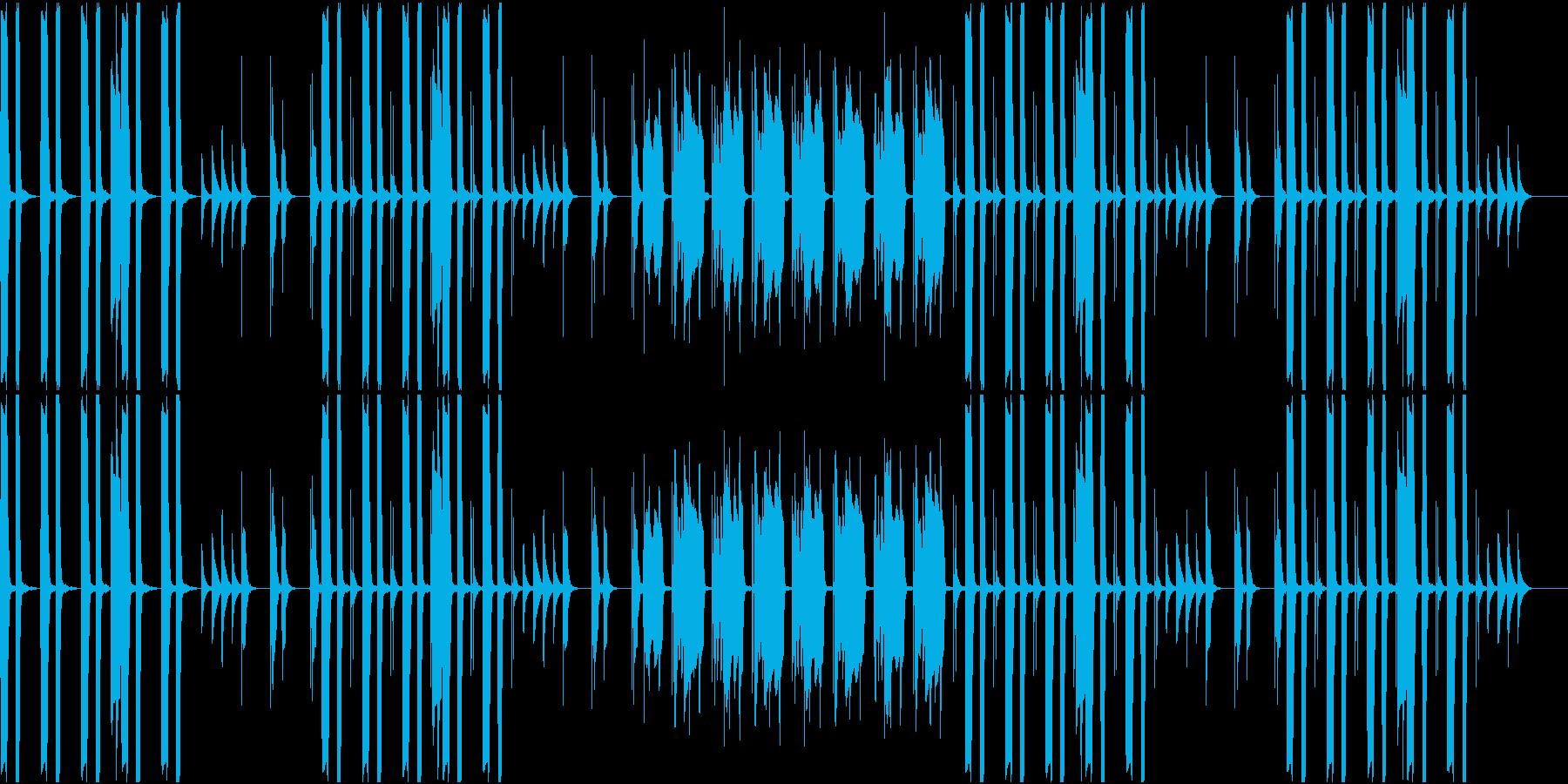 のんびりとした雰囲気のBGMの再生済みの波形