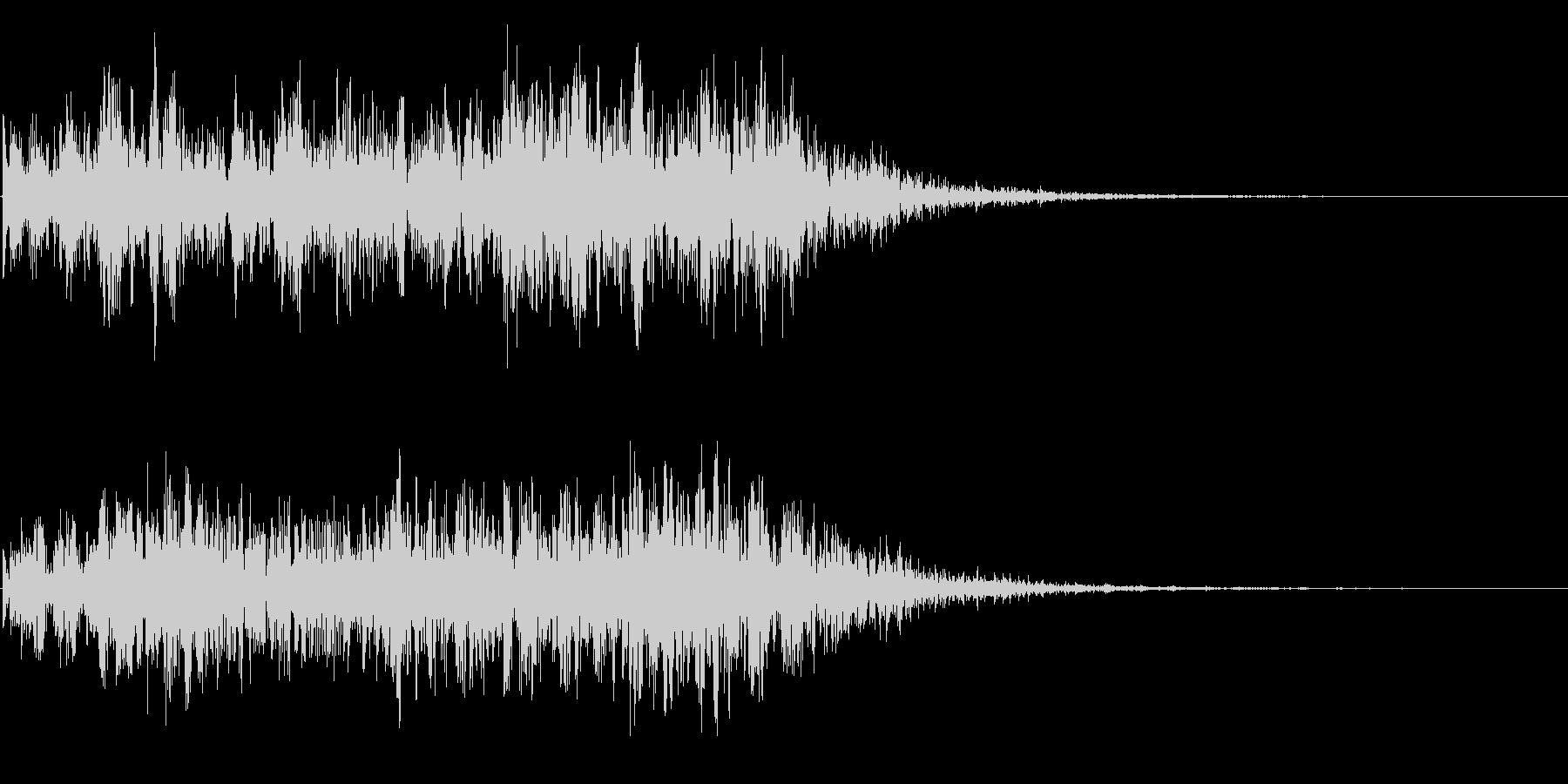 自然の音  地響き 地震 地滑りの未再生の波形