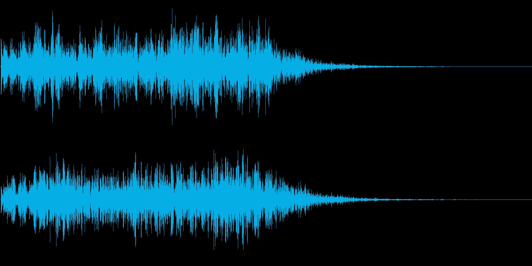 自然の音  地響き 地震 地滑りの再生済みの波形