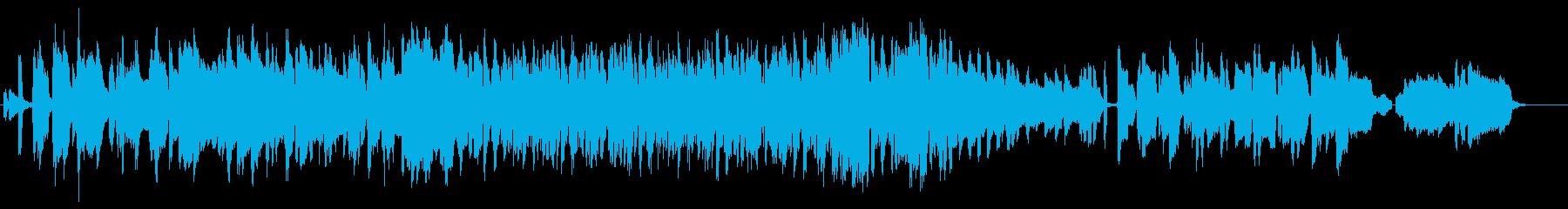 夜をイメージしたテューバとピアノの楽曲の再生済みの波形