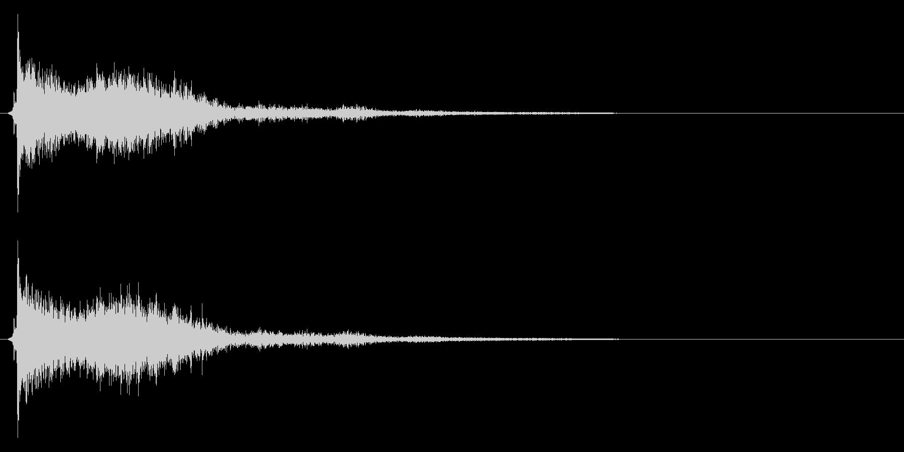 コミカルなダッシュ!ジャンプの効果音3cの未再生の波形