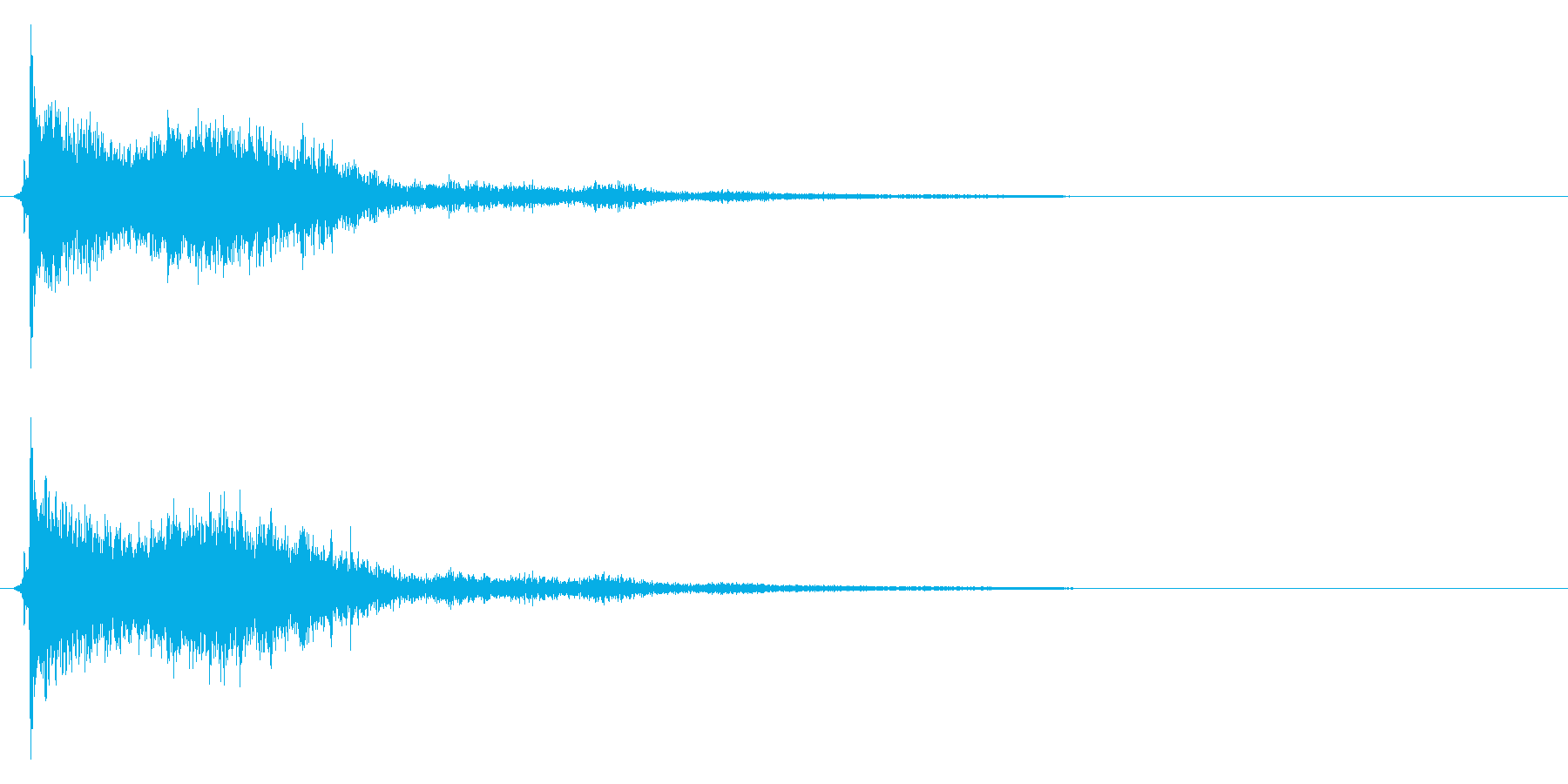 コミカルなダッシュ!ジャンプの効果音3cの再生済みの波形