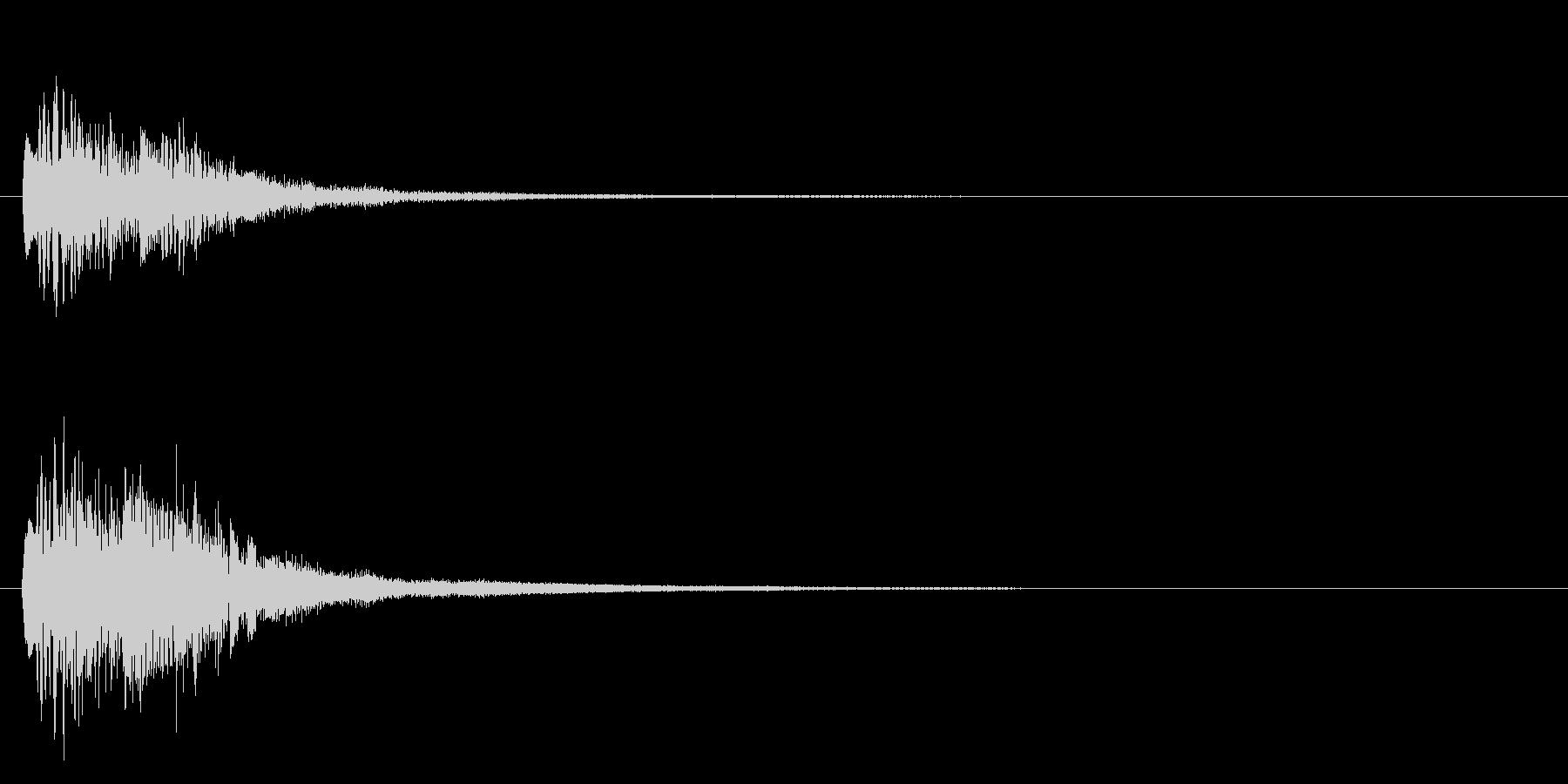 ピアノのキラキラ上昇音【キラキラキラーンの未再生の波形