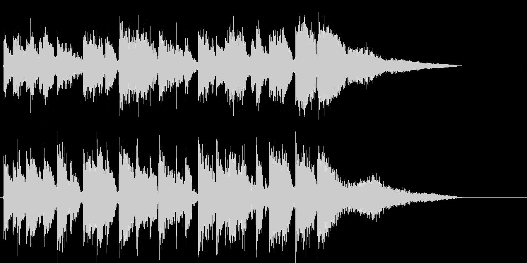 ピアノのアダルトなジャズジングルの未再生の波形