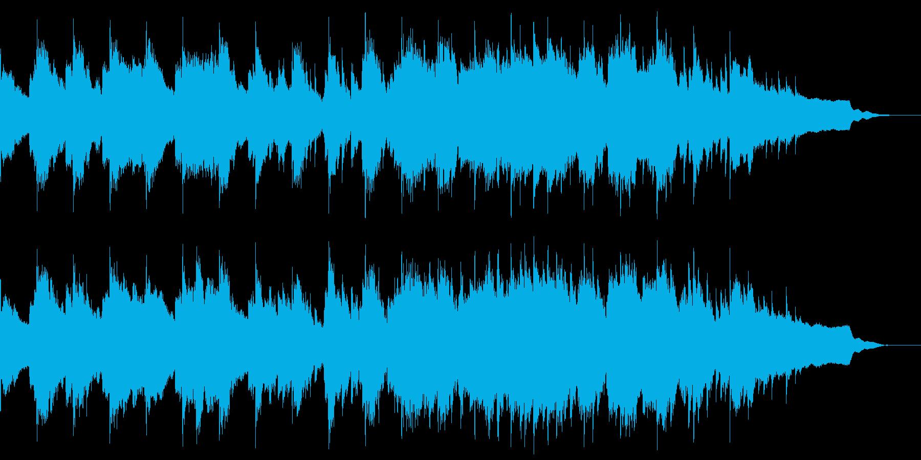ソング 和風 のどかな 尺八 ピアノの再生済みの波形