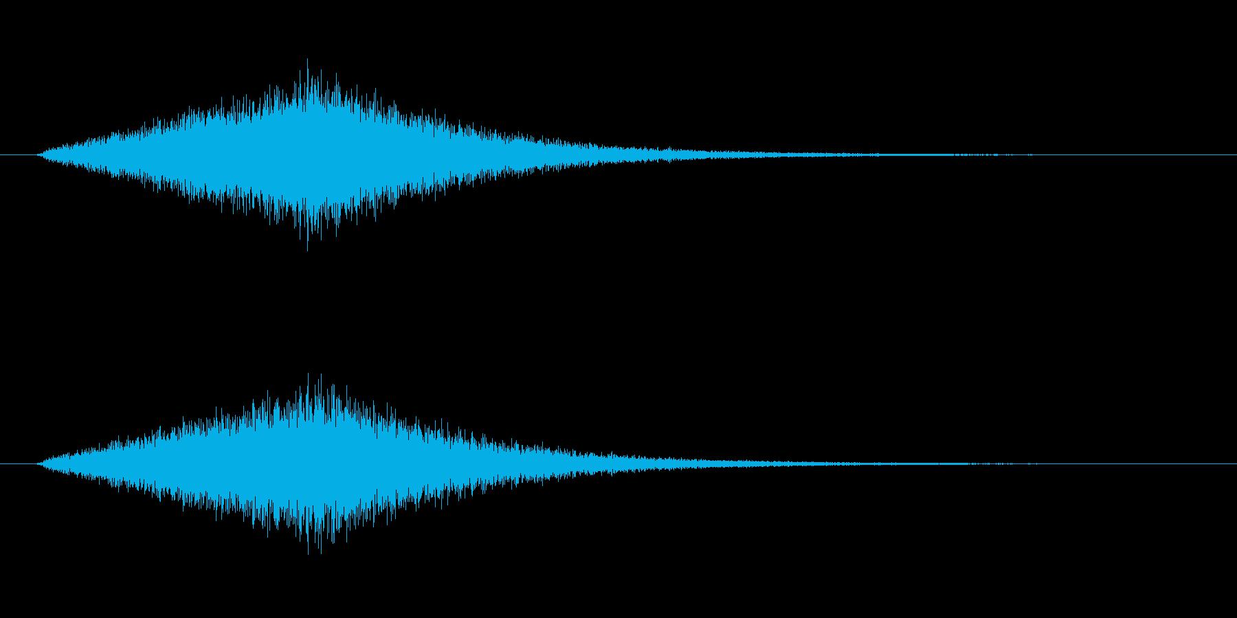 海の波の音です。ゲームや映像に使えます。の再生済みの波形