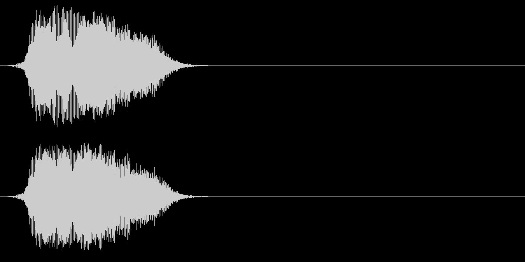 コツメカワウソの鳴き声(姿も声も可愛い)の未再生の波形