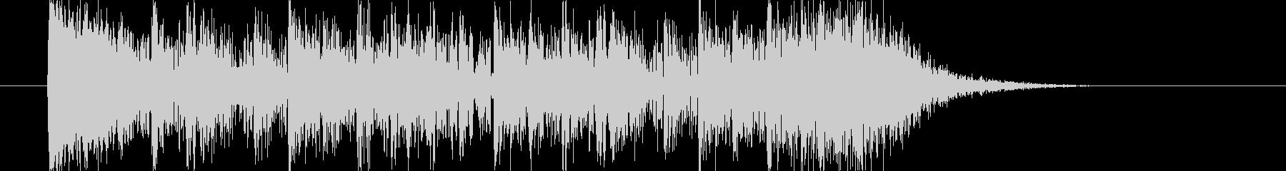 動きや勢いがありドラムが印象的なBGMの未再生の波形
