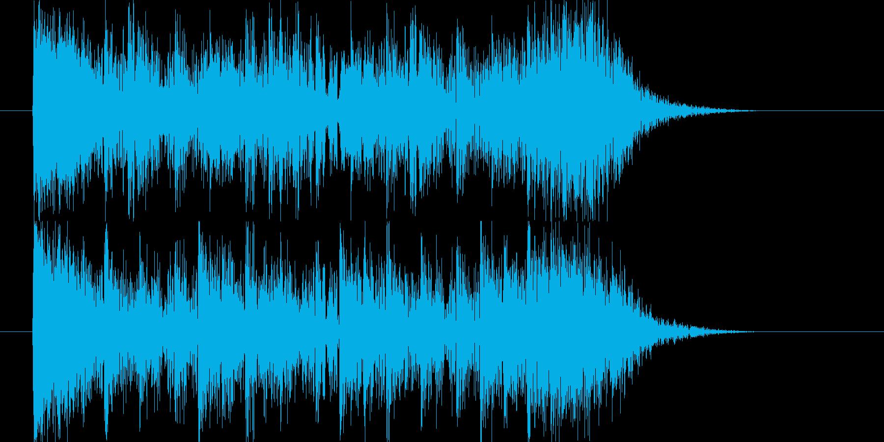 動きや勢いがありドラムが印象的なBGMの再生済みの波形