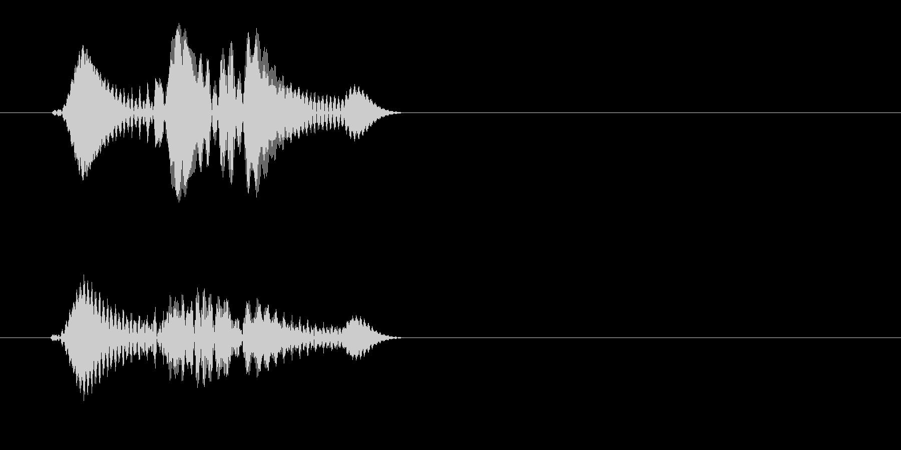 チュエッ(ボタン音)の未再生の波形