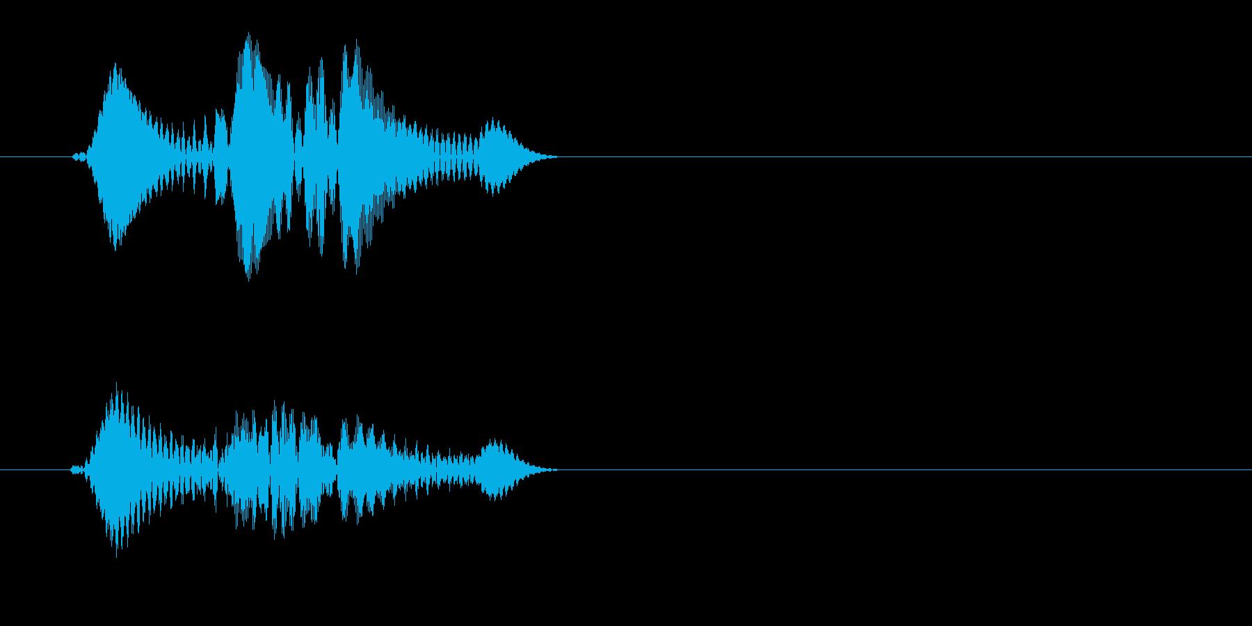 チュエッ(ボタン音)の再生済みの波形