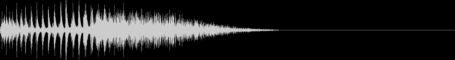 DTM Snare 1 オリジナル音源の未再生の波形