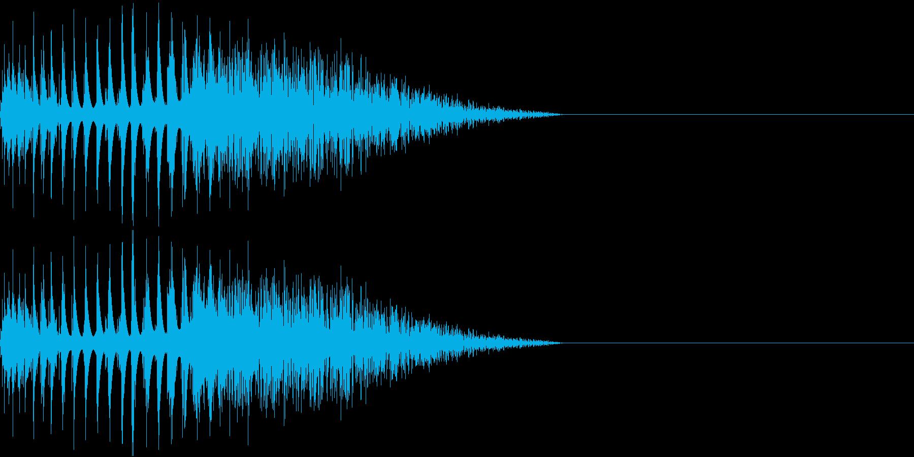 DTM Snare 1 オリジナル音源の再生済みの波形