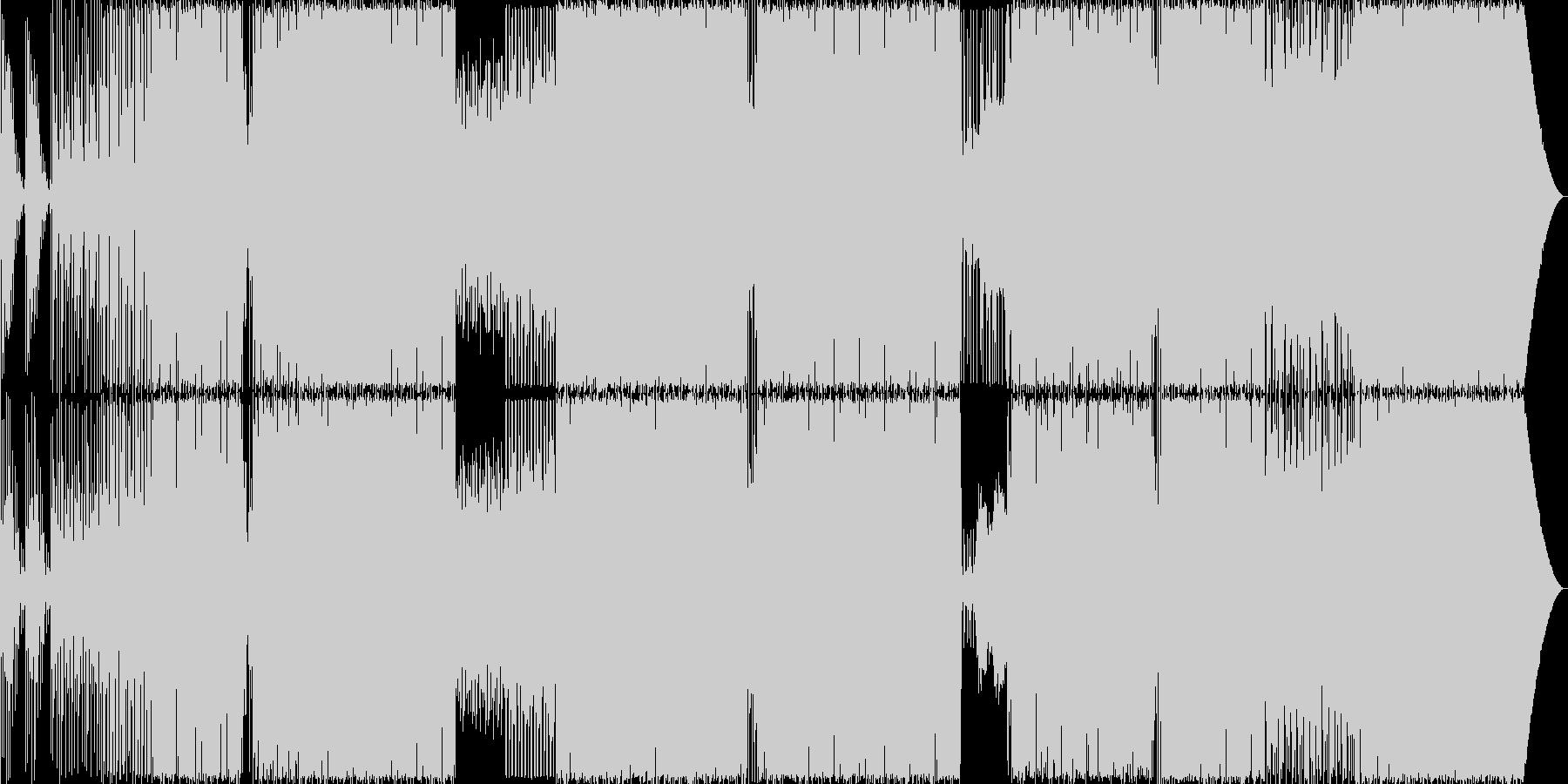 ダイナミックスなEDMの未再生の波形