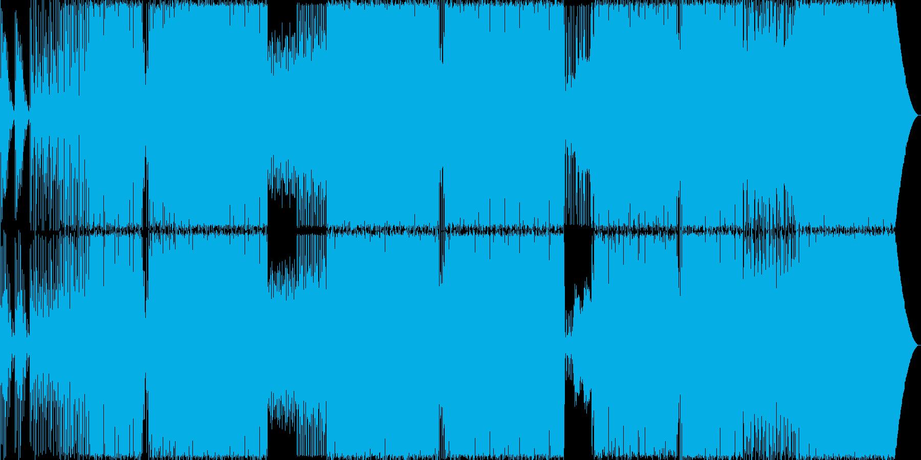 ダイナミックスなEDMの再生済みの波形