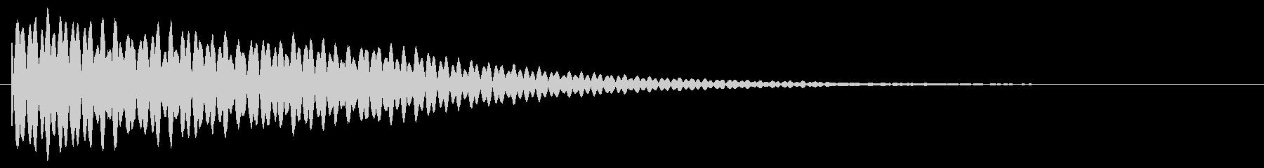 金属音 キーン 魔法の未再生の波形