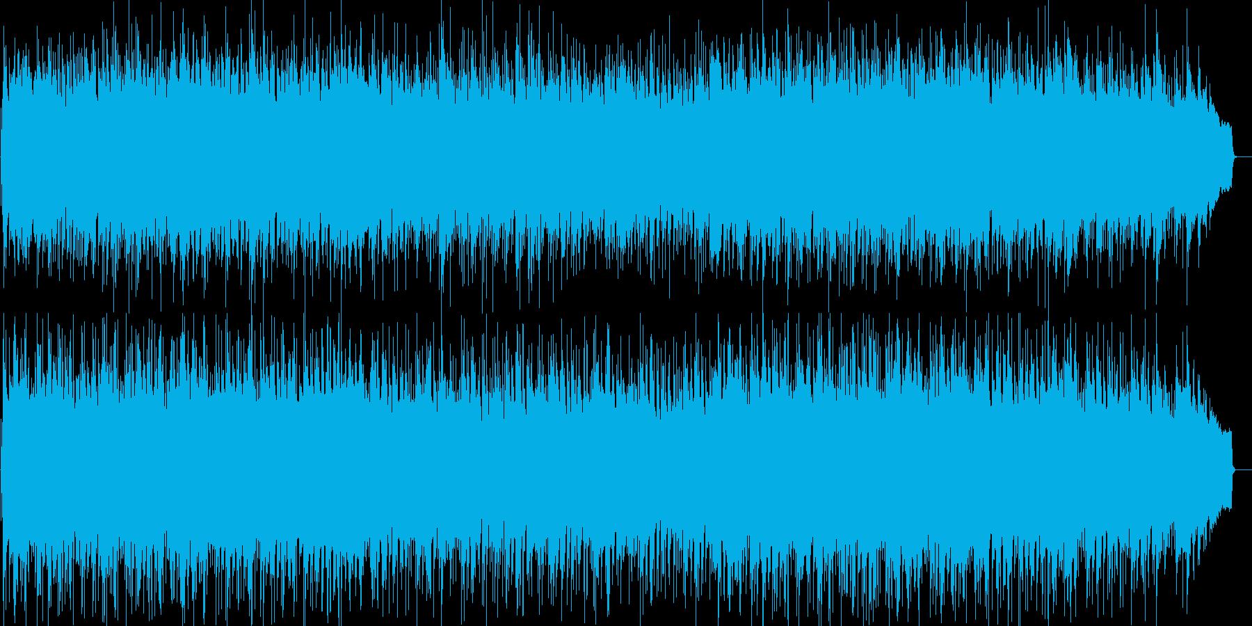 アップテンポのおしゃれなフュージョンの再生済みの波形
