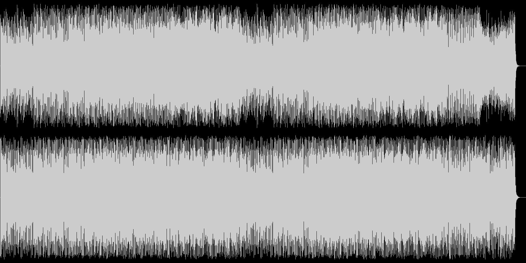 4つ打ちの気持ちの良いボサノバハウスの未再生の波形