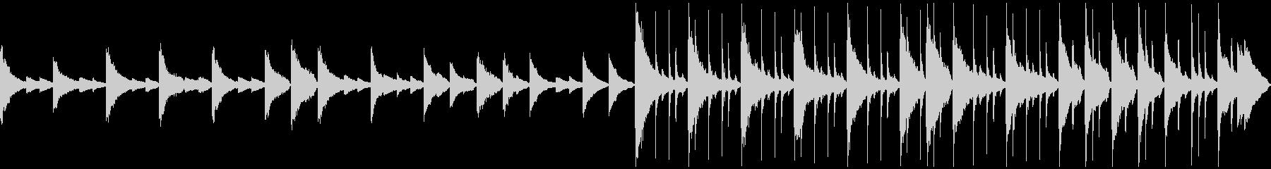ピアノ主体メロディ無し優しいバラード短めの未再生の波形