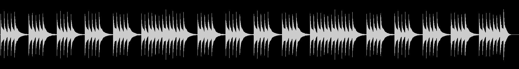 切なく儚いハープのアルペジオ 悲しみの音の未再生の波形