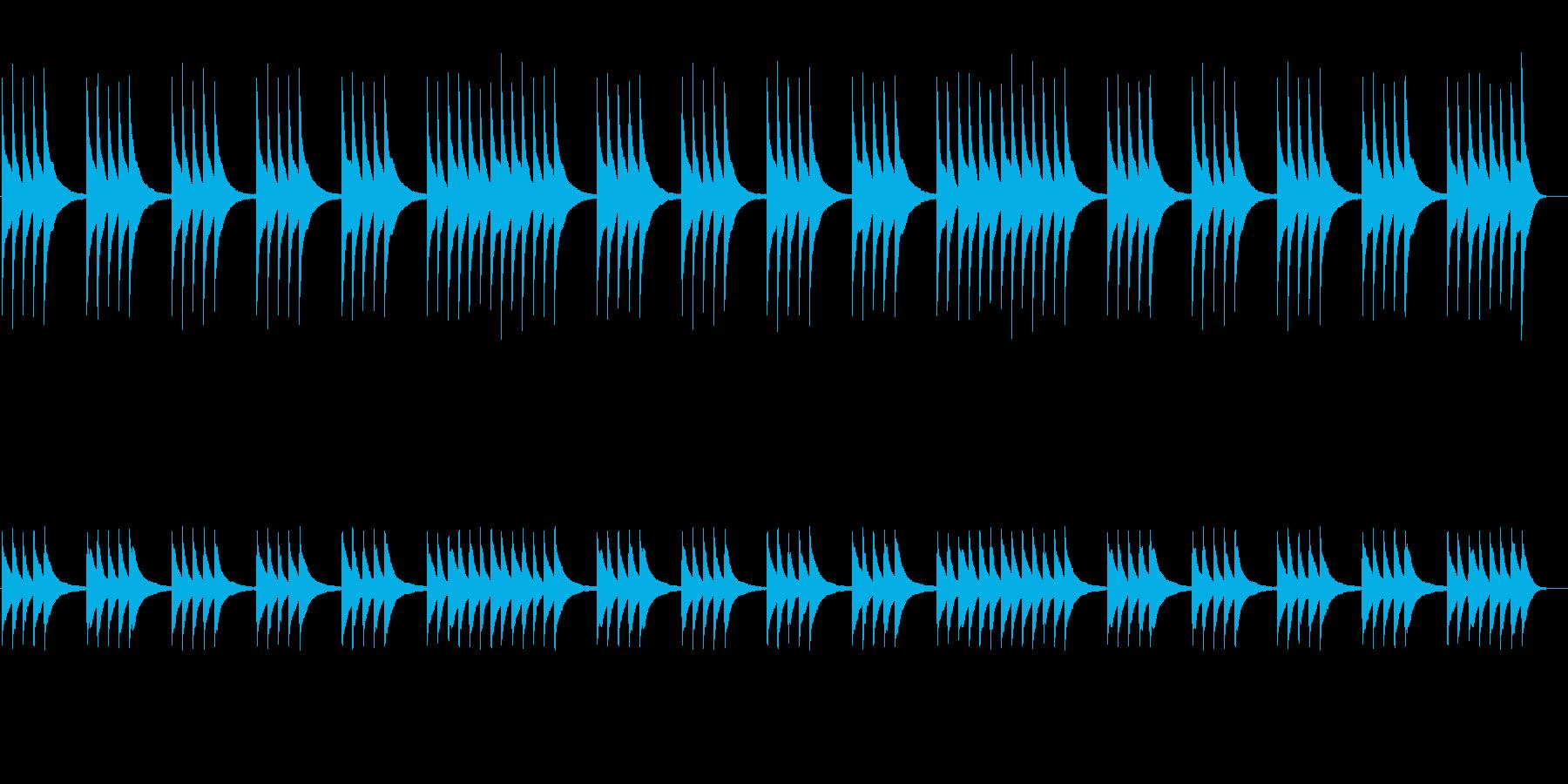 切なく儚いハープのアルペジオ 悲しみの音の再生済みの波形