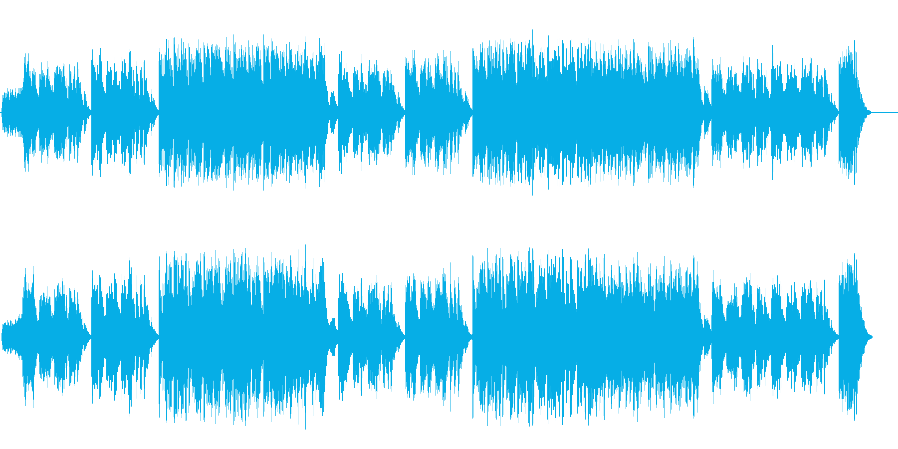 透明なポップバラード(フルサイズ)の再生済みの波形
