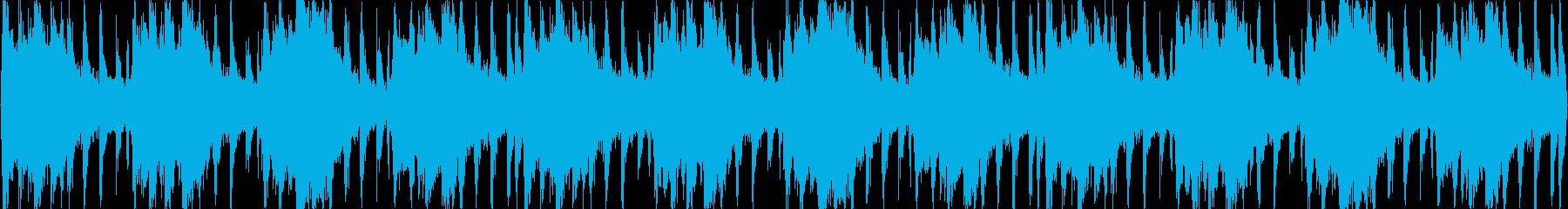 おしゃれなピアノの再生済みの波形