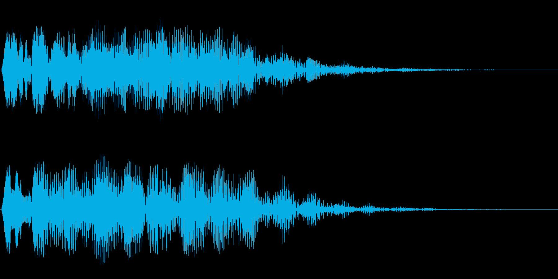 シンセサイザーの空間的なストリング音の再生済みの波形