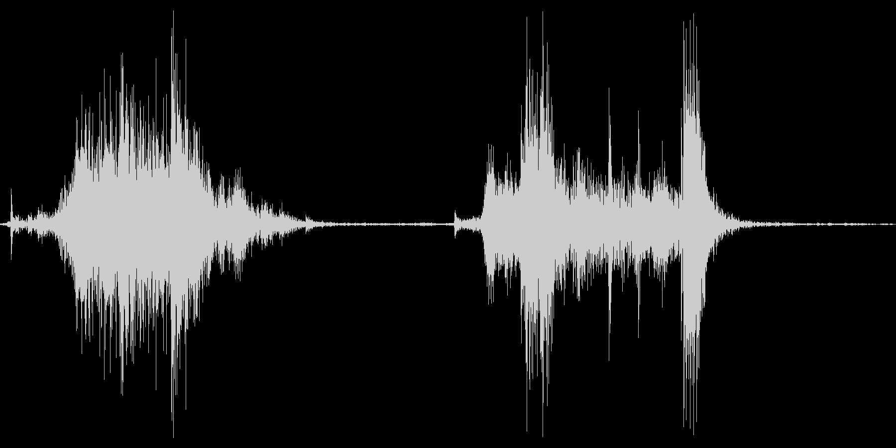 ガラッの未再生の波形