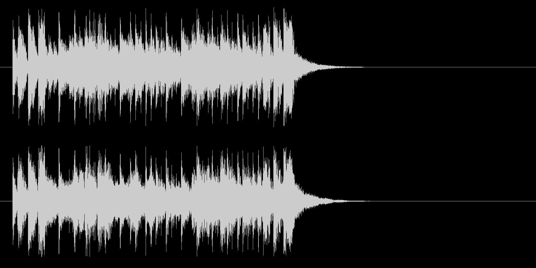 ジングル(予告、次回もお楽しみに)の未再生の波形