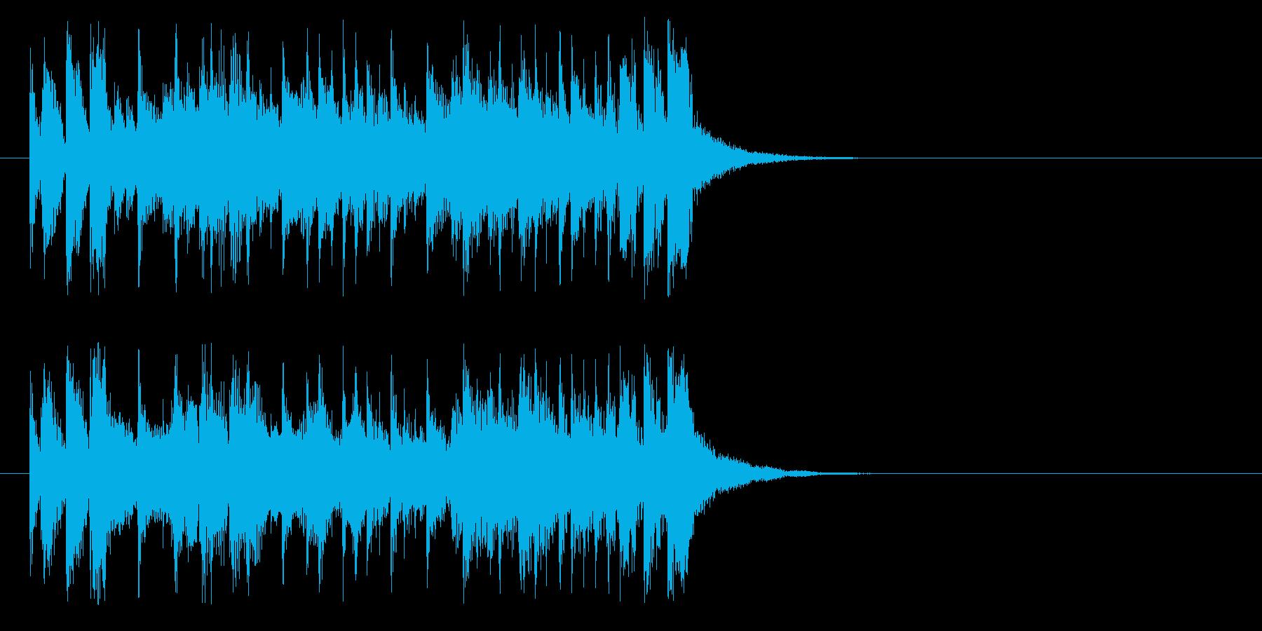 ジングル(予告、次回もお楽しみに)の再生済みの波形