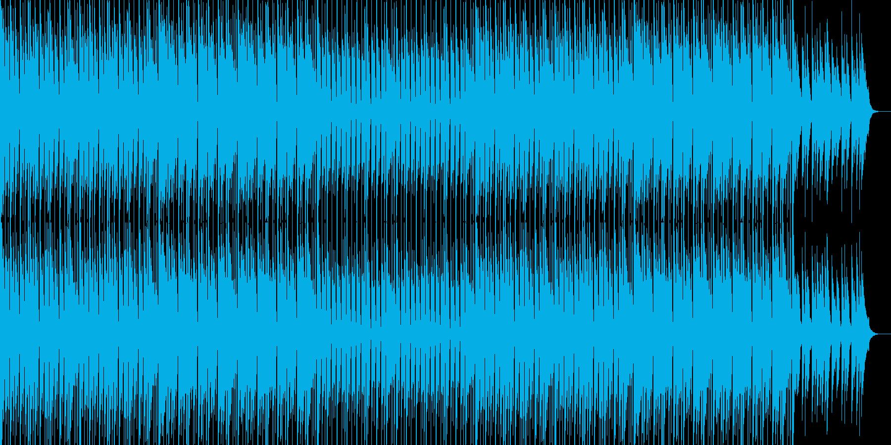 跳ねるマリンバのリズムの明るいポップスの再生済みの波形