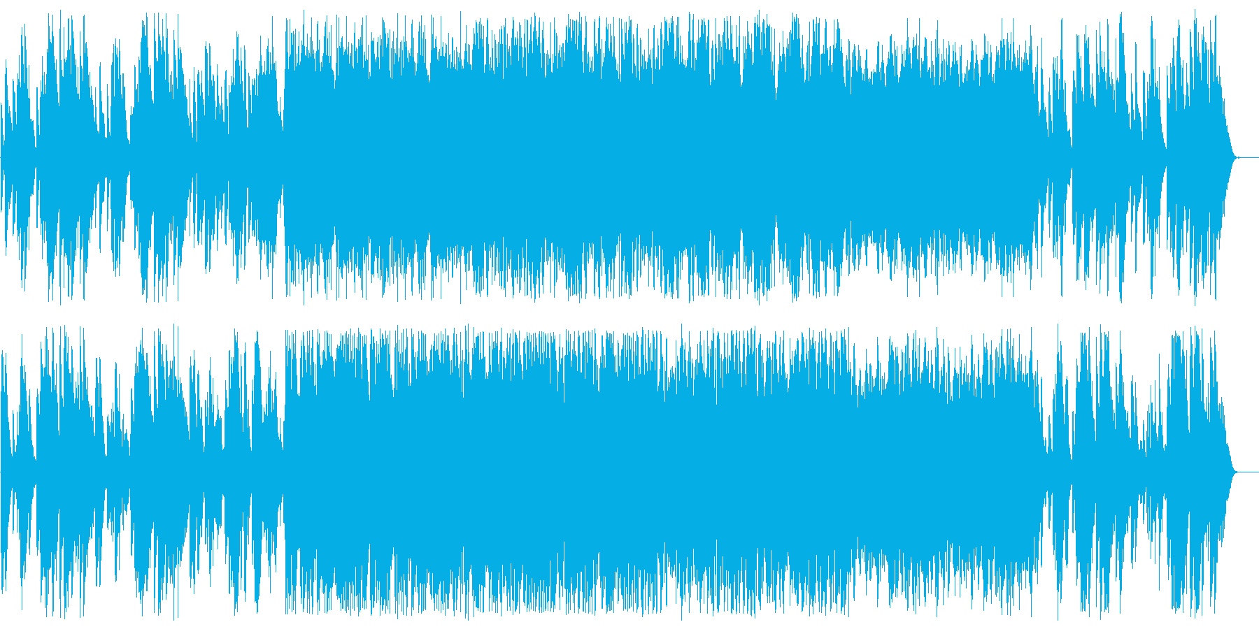 ファンタジーで不思議なシンセ鉄琴サウンドの再生済みの波形
