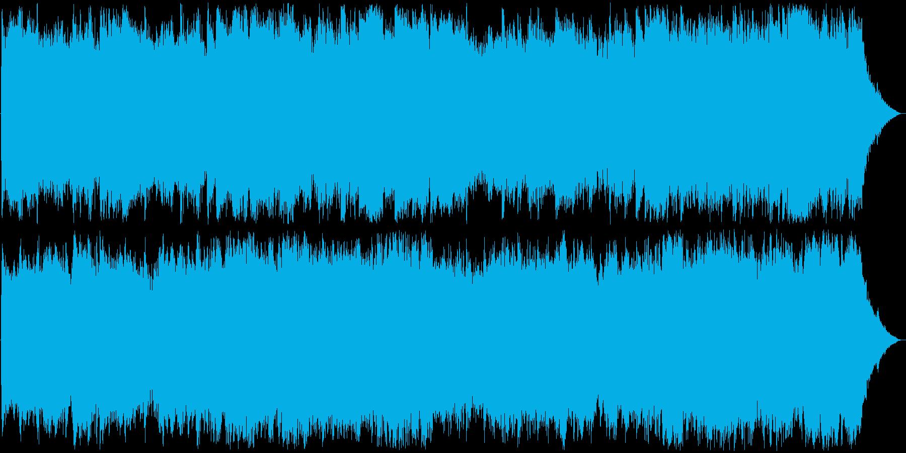 緊迫したダンジョンのBGMの再生済みの波形
