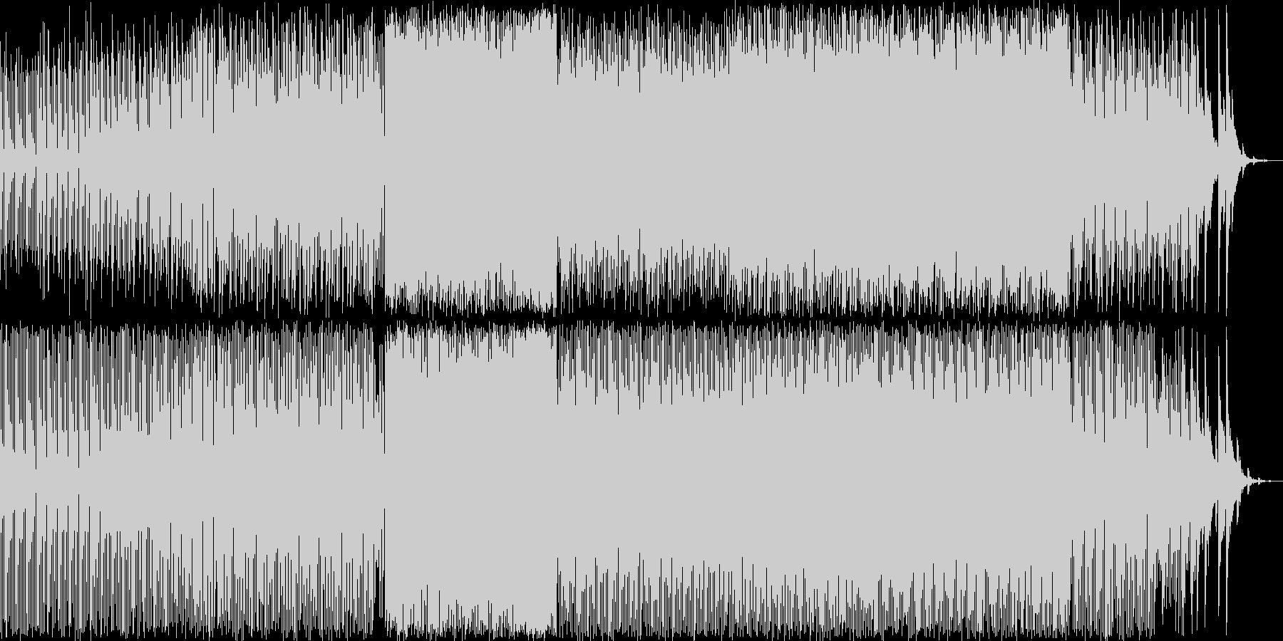 爽やかな印象のテクノ曲の未再生の波形