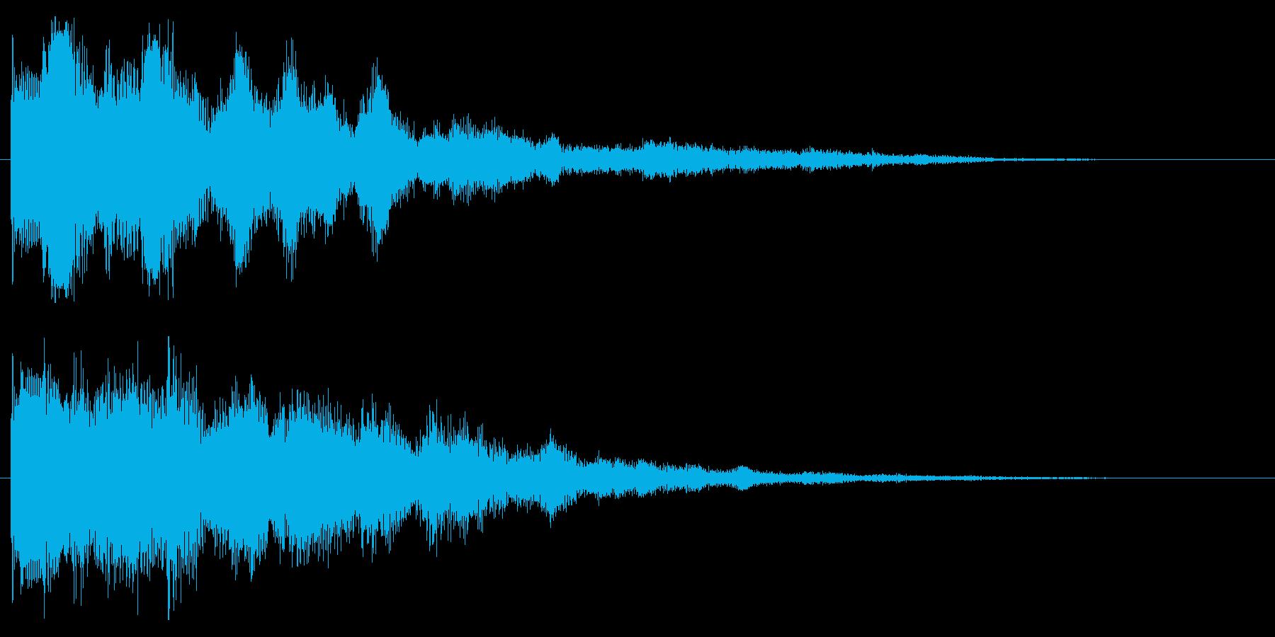 ファンタジックなセレクト音 決定音 開始の再生済みの波形