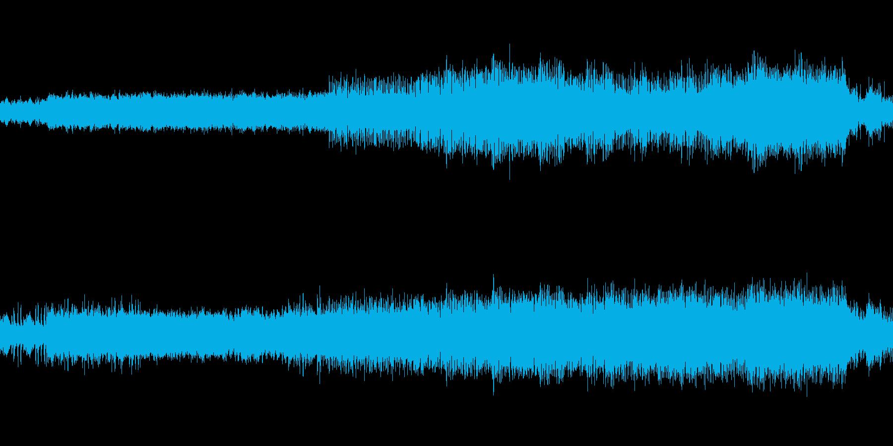 映像、ゲームのステージBGM(ケルト風)の再生済みの波形
